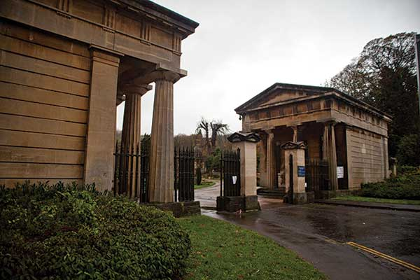 The entrance gates to Arnos Vale