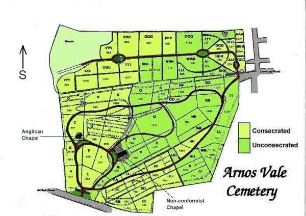 heritage- arnos vale map