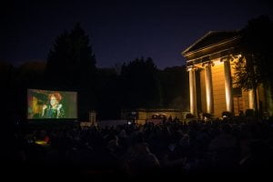 Outdoor screening of Hocus Pocus at Arnos Vale