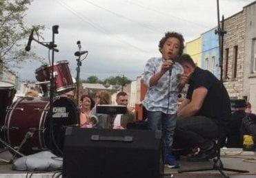 Mattie singing
