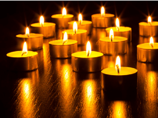 Candles at a Rove Yoga class