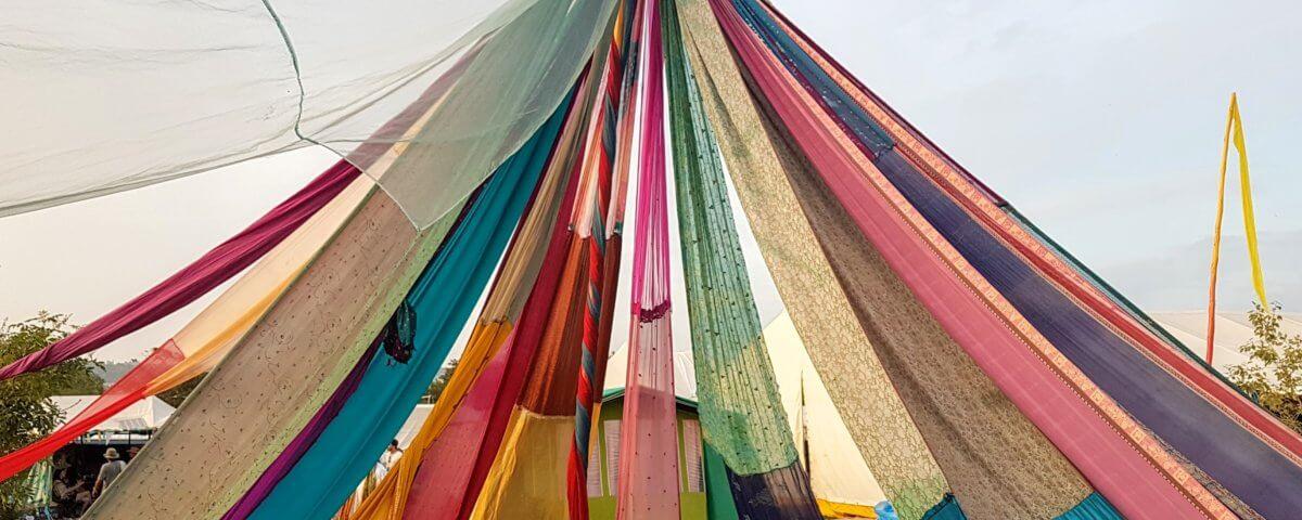 A colourful festival tent