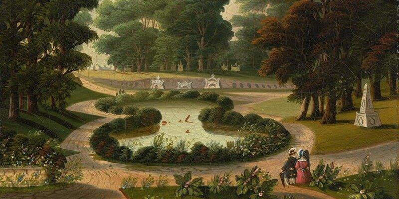 'Mount Auburn Cemetery' by Thomas Chambers, mid-19th century