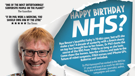 Dr Phil Hammond NHS talk poster