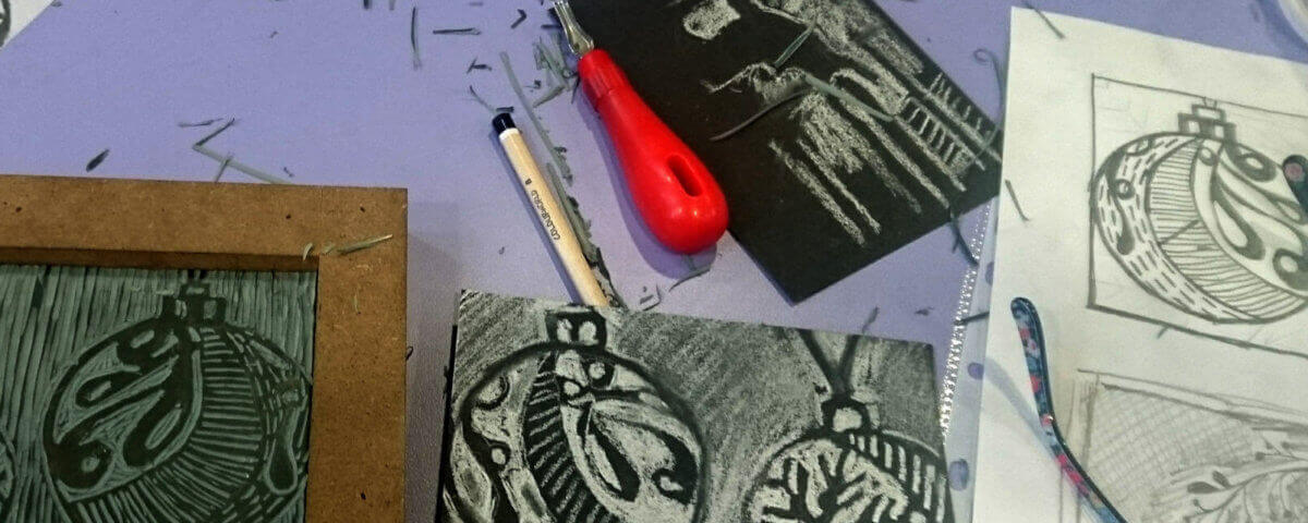 Lino workshop with Gemma Lane
