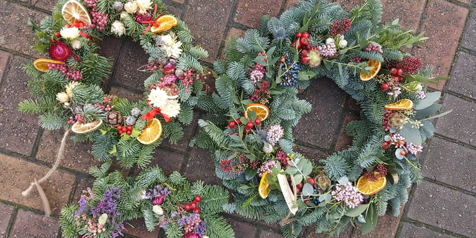 Circle of Hope wreath by Floriography