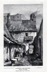 Old picture of a slum building